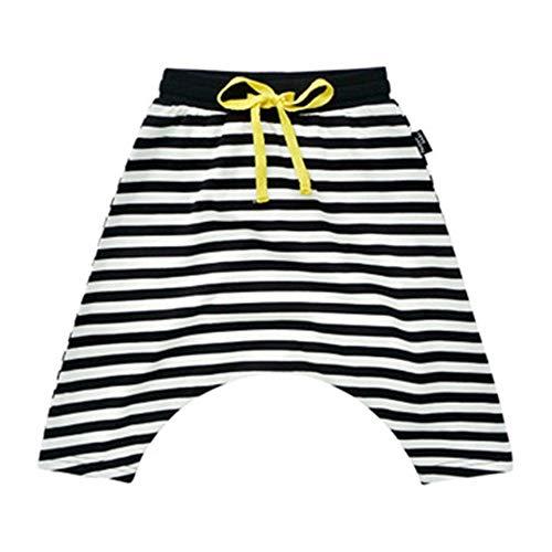 FHYER Hosen Baby Kleidung Frühling und Sommer Modelle Säuglings gestreiften Harem Jungen und Mädchen Mode Hip-Hop-Stil Sporthose