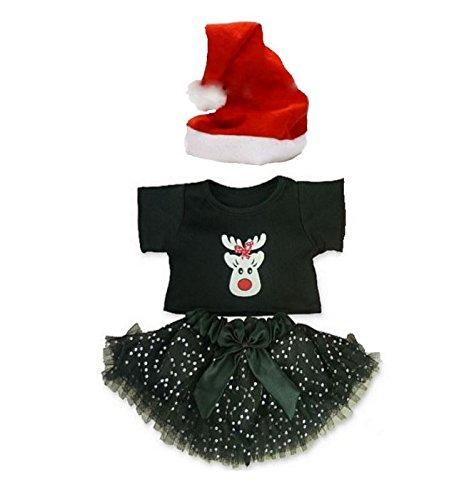 Build your Bears Wardrobe Teddybär-Kostüm, Weihnachts-Outfit, 38 cm