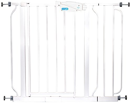 Regalo 1165W Easy Step extra breites druckmontiertes Baby-Schutzgitter, inklusive 2 Erweiterungen