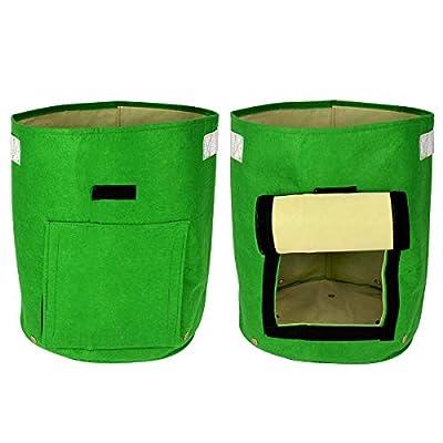 Double couche de tissu non tissé de pommes de terre Tub Grow pommes de terre Patio recyclé en pleine Croissance Sac