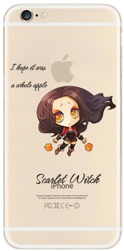 New Marvels Avenger Transparent Clear TPU Soft Case For APPLE IPHONE 8 SCARLET WITCH SCARLET WITCH