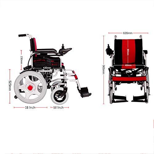 41%2BfwivLsQL - WJUAN Silla De Ruedas Eléctrica Ancianos Discapacitados Scooter Inteligente Completamente Automático Ligero Plegable Vehículo Eléctrico De Cuatro Ruedas