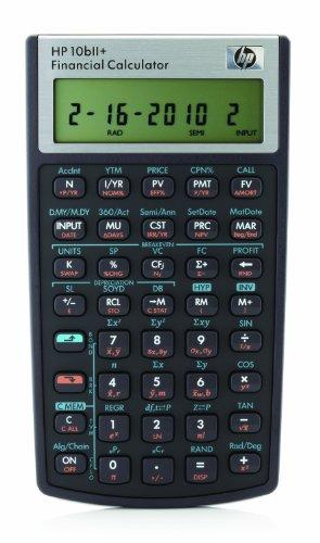 HP 10bII+ Calculatrice Financière Noir