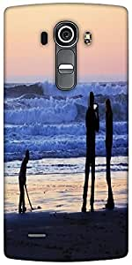 Snoogg Beach People Designer Protective Back Case Cover For LG G4