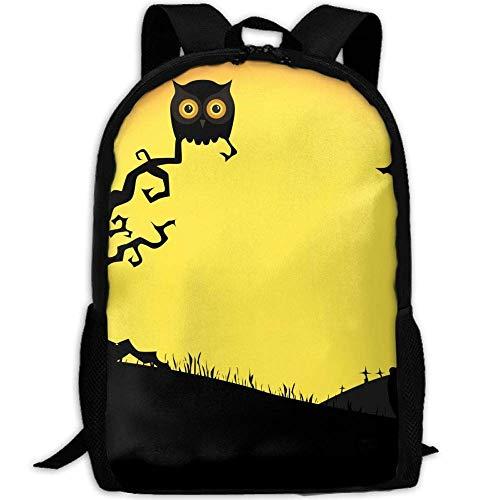 ween Owl Tree Pumpkin Unisex Adult Custom Rucksack,School Casual Sports Book Bags,Durable Oxford Outdoor College Laptop Computer Shoulder Bags,Lightweight Travel Tagesrucksäcke ()