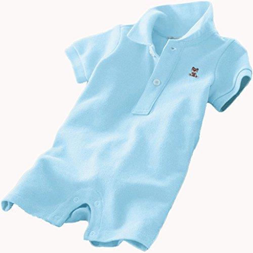 Vine Bambino Pagliaccetti Manica Corta Body per Bimbi Polo Tutina Bambini Cotone Outfits