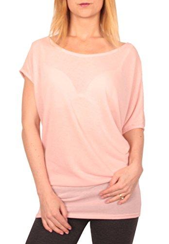 Ella Manue Frauen Damen Oversize Long Top Shirt Lara Rose