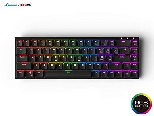 Durgod Hades 68 RGB Tastiera Meccanica Gaming - 65% Layout - OEM Profilo - NKRO - USB Tipo C - Telaio in alluminio Nero Cruz V2 Fresh Foam Gateron Silent Brown