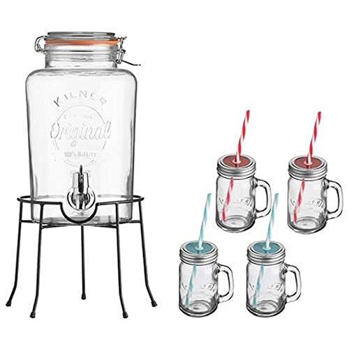 Kilner Servierset für Getränke, im Vintage-Stil, Geschenkset
