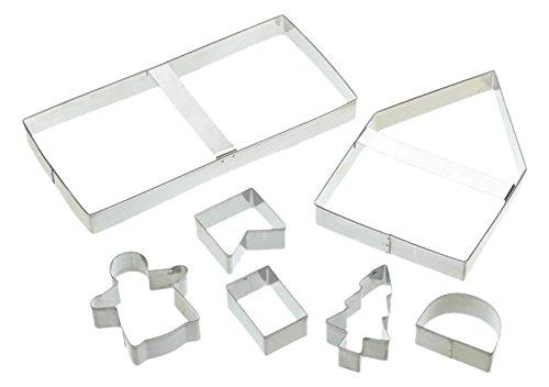 Silicone Bakeware Ausstechformen-Set für Lebkuchenhaus, 18x 14x 2cm, silberfarben