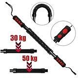 Physionics Barre à Ressort avec résistance 30/50 kg | Muscles Sport, Power Twister,...