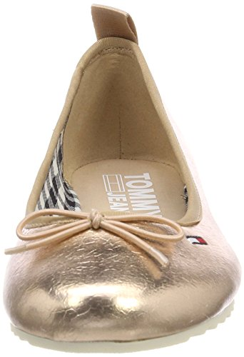 Hilfiger Denim Damen Sporty Metallic Ballerina Geschlossene Ballerinas Pink (Rose Gold 638)