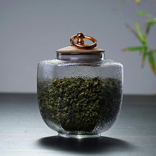 500ml / 800ml Glasröhrchen Transparente Glasversiegelte Dosen Küchen Teedosen Bonbonflaschen Küchen Hitzebeständig Einmachgläser