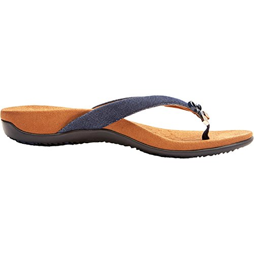 Vionic Womens Bella Denim Textile Sandals 38 EU