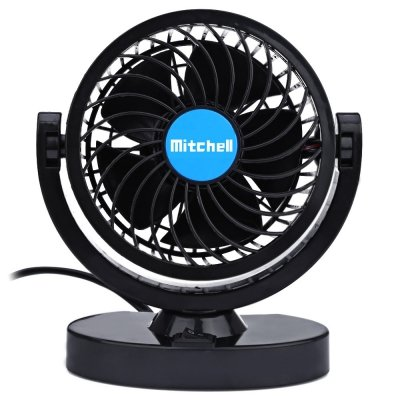 Mitchell Mini Ventilador de Refrigeración 360 Grados Ajustable por Aire Acondicionado Coche(12V)