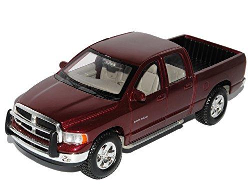 Maisto Dodge Ram Quad Cab Rot Pick-up 2002-2009 1/24 Modell Auto mit individiuellem Wunschkennzeichen -