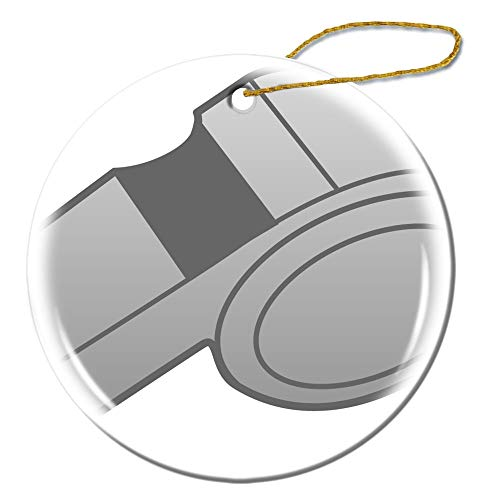 Musoon Whistle Clipart Basketball Whistle Weihnachten Geburtstag Valentinstag doppelseitig Muster Design Personalisierte personalisierbar Dekorative Unisex Geschenke Schneeflocke Porzellan Ornament