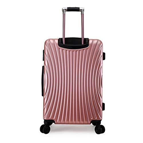 Koffer, Trolley, Carry Kursteilnehmer auf Gepäck Holdall Baglightweight ABS Hartschalen-Reisen in Gepäck-Koffer-Schach halten,Rosa,24in