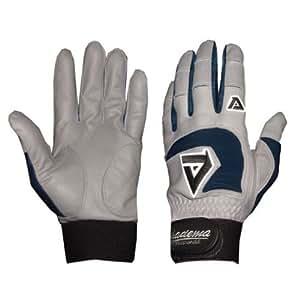 Adult Gray Batting Gloves (Navy) (2X Large)