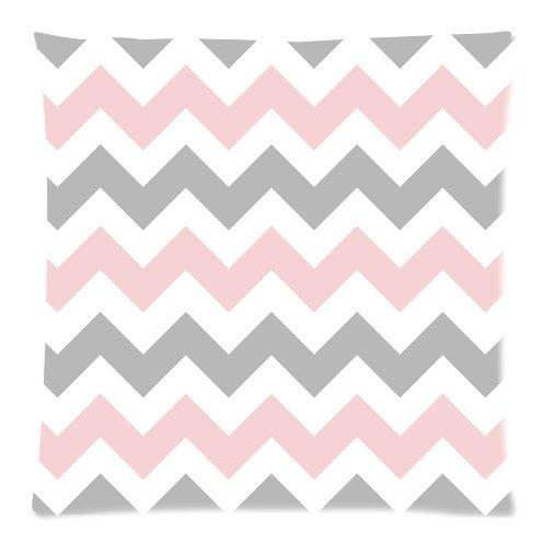 Custom gris, rosa blanco Zig Zag Chevron Pattern manta