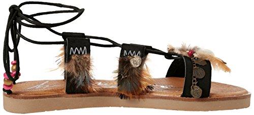 Coolway Damen Daikiri Sandalen mit Knöchelriemen Schwarz