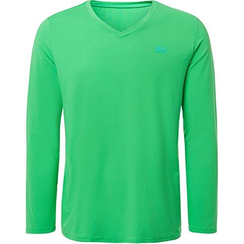 Sportkind Jungen & Herren Tennis / Running / Fitness Langarmshirt, grün, Gr. 164