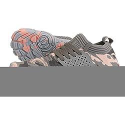 WHITIN Zapatilla Minimalista de Barefoot Trail Running para Mujer Five Fingers Fivefingers Zapato Descalzo Correr Deportivas Fitness Gimnasio Calzado Asfalto Rose Camo 37 EU