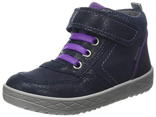 Superfit Mädchen Mercury Hohe Sneaker, Blau (Blau/Lila 80), 30 EU