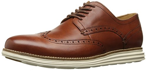 Wingtip Oxford (COZ7W|#Cole Haan Herren Original Grand Wingtip Oxfords, (Woodbury/Ivory), 41 EU)