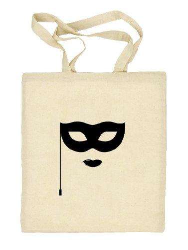 Shirtstreet24, Fasching - Maske, Kostüm Karneval Natur Stoffbeutel Jute Tasche (ONE SIZE) Natur