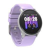 BingoFit Vito Fitness Tracker Smart Watch,Waterproof Activity Tracker with Heart Rate Blood Pressure Monitor,Sleep Monitor Pedometer Watch for Kids Women Men,IOS Android,Purple