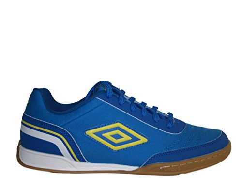 Umbro Futsal Street V, Scarpe da Calcetto Indoor Uomo, Blu (Electric Blue/Blazing Yellow/Tw Royal/White FNU), 43 EU