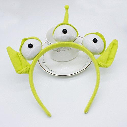 Haarreifen mit grünem Monster von ZMvise Plüsch Kostüm Kopfschmuck (Kinder Monster Kostüme Uk)