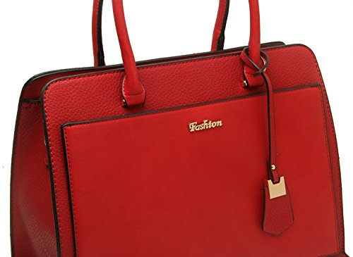 Craze London, Borsa tote donna Red
