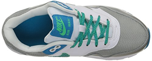 Nike Mädchen Air Max 1 Sneaker Weiß - Blanc (White/Blue Lagoon/Electric Green 100)