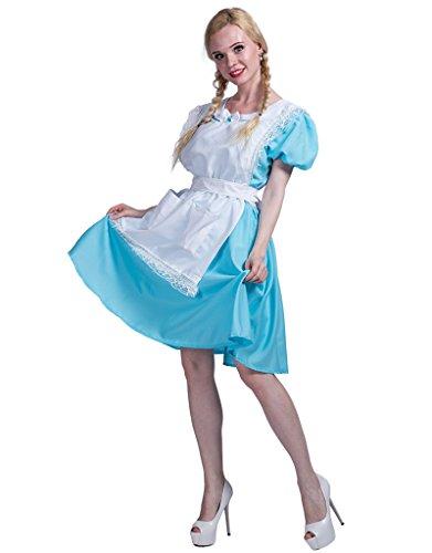 EraSpooky Damen Kostüm Accessoires für Dienstmädchen und Kellner (Gute Halloween Kostüme Für Plus Size)