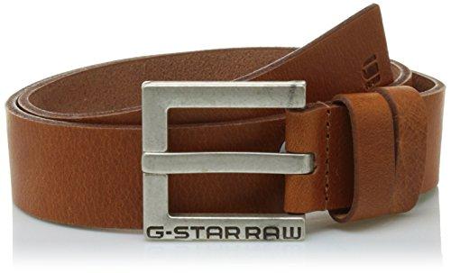 G-STAR RAW Herren Gürtel Duko Braun (Dark Cognac/Antic Silver), 80