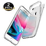 UsiPhone - Lot de 2 Housses [Liquid Crystal] Gel Etui Coque de Protection avec Absorption de Choc, Anti-Scratch Compatible avec iPhone 7 Plus / 8 Plus [5,5 Pouces] TPU Silicone Transparent Souple