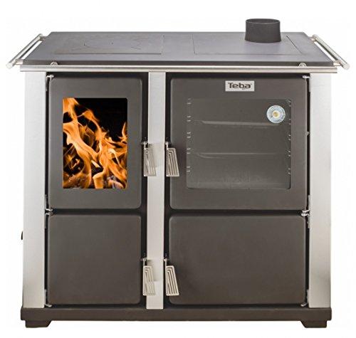 EEK A Wasserführender Automatik-Küchenofen, Holz- u. Kohleherd Edelstahl Teba T22 inkl. Pumpe
