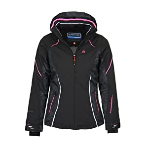 Bergson Damen Skijacke FROST – wasserdicht, winddicht, atmungsaktiv, warm, Wassersäule: 12000 mm, Atmungsaktivität: 12000 g/qm/24Std.