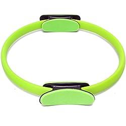 Anillo de Pilates - SODIAL(R)anillo del circulo de entrenamiento de resistencia de aptitud GYM de Yoga doble bandas de anillo verde