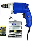 Dee Power Electric Drill Machine (10mm) with 41 Pieces Screwdriver Kit +13HSS Bits