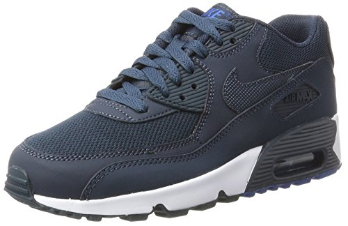 sports shoes d504b fafd7 Nike Air Max 90 Mesh GS Scarpe da ginnastica, Bambini e ragazzi, Blu (