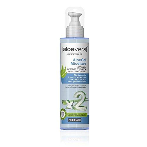 ZUCCARI [AloeVera] x2 - Aloe Gel Micellare 200ml - Strucca, Deterge e Tonifica