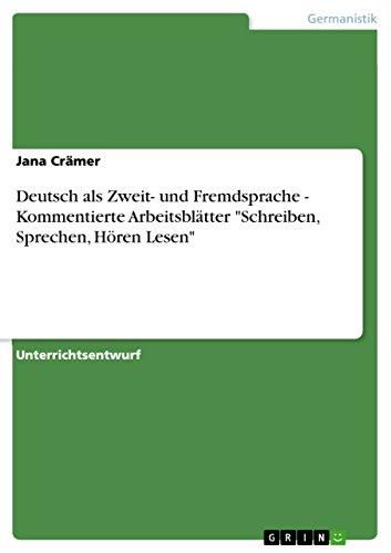 Deutsch als Zweit- und Fremdsprache - Kommentierte Arbeitsblätter ...