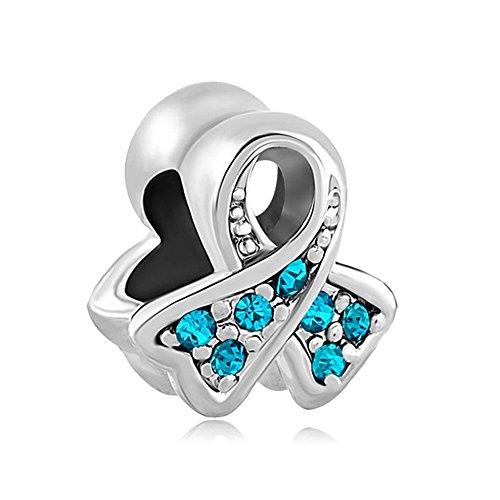 Uniqueen Fit Pandora Charms  -    Metalllegierung       (Pandora Charm Geburtsstein Dezember)