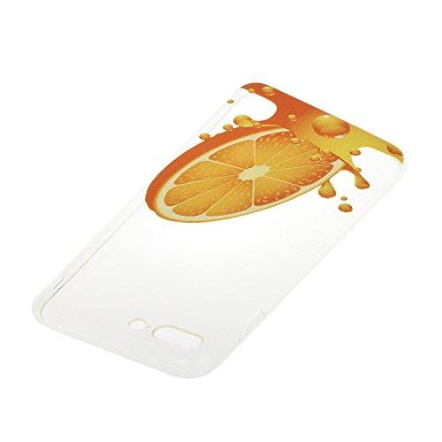 Etsue custodia per iPhone 7 Plus TPU case cover custodia in silicone caso di gomma flessibile morbido silicone paraurti soft gel slim fit ultra sottile misura flessibile liscia caso anti scratch trasp *19