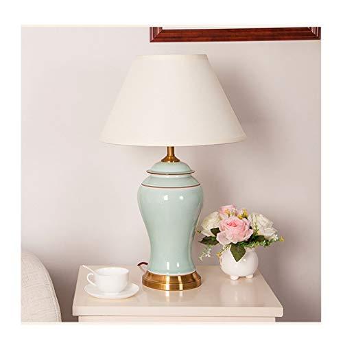 Europäische moderne keramische Tischlampe Schlafzimmerlampe Wohnzimmer Studie Tischlampe Hotel Tischlampe im europäischen Stil