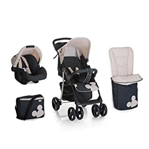 New Hauck Disney Classic Mickey mouse Shopper Pushchair Buggy Pram Shop n Drive Travel System+car seat+changing bag+cosytoes+raincover