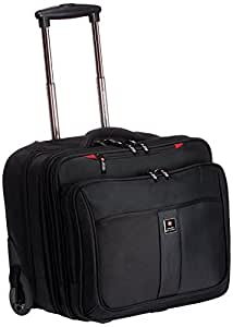 Swiss Military Polyester 45 liters Black Laptop Trolley Bag (LTB-3)